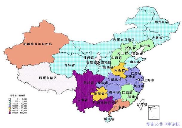 中国艾滋病人数分布_中国艾滋病流行特点A - 2011 年中国艾滋病疫情估计报告-华东公共 ...